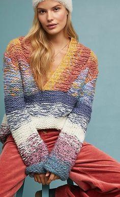 Knitting Designs, Knitting Patterns, Crochet Patterns, Knit Cardigan, Knit Dress, Knit Fashion, Cozy Sweaters, Crochet Clothes, Lana