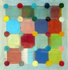 """""""Ludo"""" , acrylic on canvas, 36.5 x 35 cm, 2013. By Diego Manuel"""