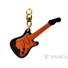 GENUINE 3D LEATHER ELECTRIC GUITAR KEYCHAIN MADE BY SKILLFUL CRAFTSMEN OF VANCA CRAFT IN JAPAN. #handmade #keyfob #gift #unique #art #design #cute #instrument #music