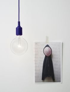 Lamp met gekleurde kabel en fittingMUUTO PRODUCTS BY MATTIAS STÅHLBOM: E27 Pendant Lamp Up Lamp 59 euro Loft76 Godsweerdersingel 76 website phone: +31 475 337 897 Fonq.nl Kobaltweg 50 website phone: +31 30 - 247 50 15