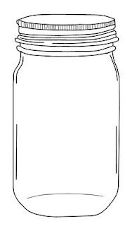 printable mason jar template - Google Search