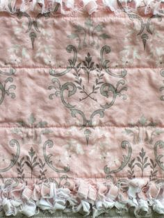 Baby Girl Burp Cloths French Country Pink Gray Set of Four