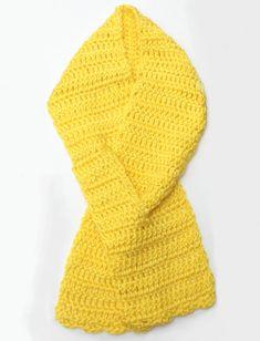 Yellow Ribbon Neck Warmer Scarf  Crochet Cowl by KidaliaKrochet