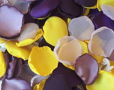 Jaune, raisin, Satin violet & Manon violet Marquisette Rose pétales Mix mariage jardin fête prénuptiale mauve Decor allée Runner