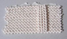 Claire Wallis' tutorial knitted polymer clay for reverse stocking stitch.  click to the left several pictures for her setup. #polymer #clay #tutorial
