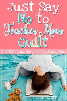 As a teacher and a mom. you've got a lot on your plate. You don't need guilt on top of it. Here's some tips for easing the guilt and staying sane from a teacher mom who has beeb there. Teacher Blogs, New Teachers, Teacher Hacks, Elementary Teacher, Teacher Resources, Elementary Schools, Upper Elementary, Teaching Tips, Teaching Math