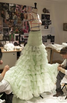 showstudio: Petite mains working on the spring 2014 Schiaparelli couture collection