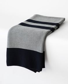 This cozy grey & navy throw is perfect for adding some texture and warmth to your bed this season. Throw is x Cotton Imported by Merben Navy Bedding, Striped Bedding, Linen Bedding, Bed Linens, Bed Sheets Online, Cheap Bed Sheets, King Bedding Sets, Luxury Bedding Sets, Restoration Hardware Bedding