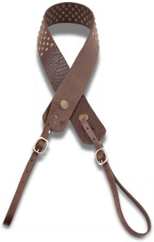 Camera Strap - Chocolate with studs - Red Monkey Designs Store