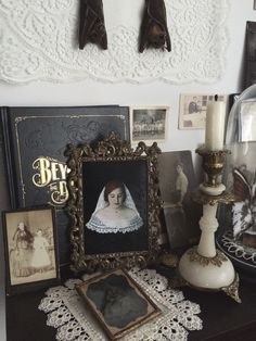 """My Bride That Is To Be"" - oil painting available here Feeling inspired by oil portrait paintings by various artists from the baroque and renaissance period one usually only sees in galleries I longed to create my own piece of art in oil paint for a. Gothic Room, Gothic House, Room Inspiration, Interior Inspiration, Spooky House, Witch House, Goth Home Decor, Vintage Gothic, Victorian Gothic"