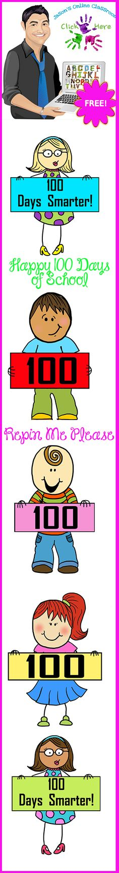 FREEBIE 100TH Day of School Clip Art.  Show us some love with a nice comment/feedback on this free item when you download. :)