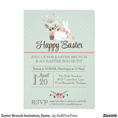 Easter Brunch Invitation, Easter Egg Hunt Invite