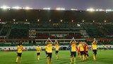 Agadir, Marruecos - 14 de diciembre: los JUGADORES de Guangzhou Evergrande FC celebran Despues de Ganar 2-0 en el Barrio de la Copa Mundial ...