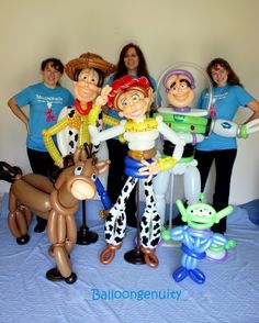 We can create virtually anything out of balloons!  Great for decor, deliveries, door greeters, gifts, or just plain fun!
