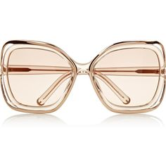 Chloé Square-frame metal and acetate sunglasses ($90) ❤ liked on Polyvore featuring accessories, eyewear, sunglasses, glasses, sunnies, clear, clear lens sunglasses, uv protection sunglasses, clear lens glasses and acetate sunglasses