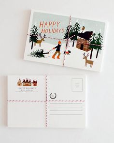 Happy Holidays from us to you! and from Rifle too.    #happyholidays #greeting #card #riflepaperco