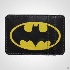 Carteira DC com logo do Batman