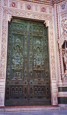 Cathedral Door Florence Italy.