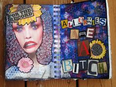 Country Life...Big City: allergies are a b***h - an art journal page