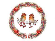 Christmas Animals, Christmas Tag, Christmas Pictures, Winter Christmas, Vintage Christmas, Christmas Crafts, Christmas Ornaments, Christmas Cartoons, Christmas Clipart