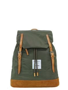 NORSE PROJECTS x Ally Capellino Fjell Olive Green Nylon Rucksack   Coggles  Next To Buy 56bd940726954