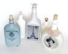 Faça esta transferência de imagem para garrafa de vidro para customizar as suas peças (Foto: savedbylovecreations.com)