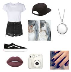 """""""Sky's Outfit #12"""" by hunnybun15-1 ❤ liked on Polyvore featuring RE/DONE, Topshop, Forever 21, Vans, Blue Nile, Lime Crime and Lottie"""