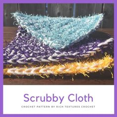 Spring Cleaning Day One! The Scrubby Cloth – A Free Crochet Pattern – Rich Textures Crochet Scrubby Yarn, Crochet Scrubbies, Dishcloth Crochet, Crochet Potholders, Cotton Crochet Patterns, Crochet Stitches Patterns, Cloth Patterns, Cleaning Day, Spring Cleaning
