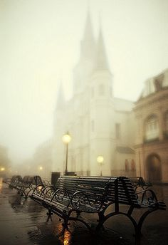 Misty Paris.