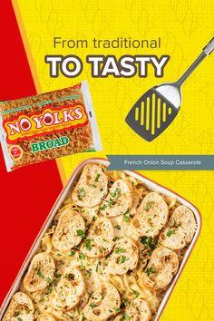 Dinner Dishes, Dinner Recipes, Caneloni Recipe, Fondant Potatoes, Tasty, Yummy Food, Easy Casserole Recipes, Onion Soup, French Onion