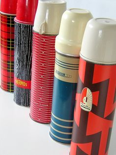 Vintage Thermos collection....we have over a hundred of them!
