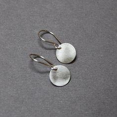 Solid Sterling Silver 10mm Disc Earrings