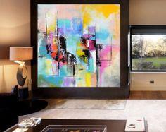 ORIGINAL Enormous 48 x 48 xxl Abstract by ModernArtHomeDecor