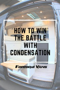 Learn what causes condensation and how to deal with unwanted moisture in your van Check out more at &; Learn what causes condensation and how to deal with unwanted moisture in your van Check out more at &; Van Conversion Interior, Camper Van Conversion Diy, Van Interior, Minivan Camping, Truck Camping, Camping Cabins, Stealth Camping, Build A Camper Van, Diy Camper