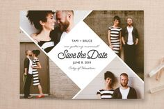 """A Modern Love"" - Classical, Formal Save The Date Cards in Lily by Thuy Do."