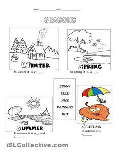 seasons and weather worksheet - Free ESL printable worksheets made ...