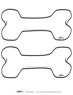 Blank Printable Dog Bone Invitations - Coolest Free Printables