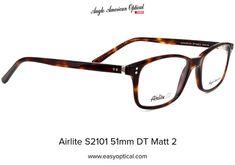 Airlite S2101 51mm DT Matt 2 Glasses, American, Eyewear, Eyeglasses, Eye Glasses