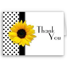 Black & White Polka Dot Thank You Card.