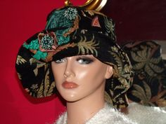 Flapper Hat Cloche  Wide Brim  Nostalgia 20 style High  fashion
