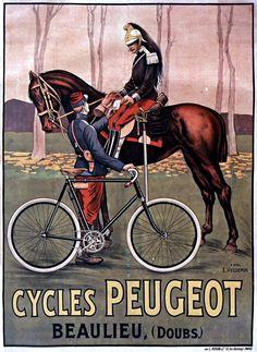 Cycles Peugeot, 1895. Artist: Ernest Vulliemin.