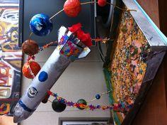 Наша поделка ко Дню Космонавтики 12 апреля. Craft 12th of April Day