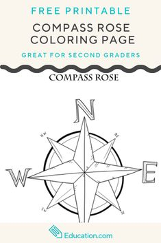 Teach your little navigator the basic compass directions with this compass rose coloring page. Social Studies Worksheets, 2nd Grade Worksheets, Social Studies Activities, Geography Activities, Geography For Kids, Compass Rose Activities, Rose Coloring Pages, Have Fun Teaching, Map Skills