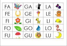 Scheda sillabe consonante l cl prima prima pinterest for Sillabe da stampare e ritagliare