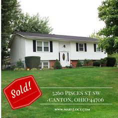 SOLD  5260 Pisces St SW, Canton, OH 44706