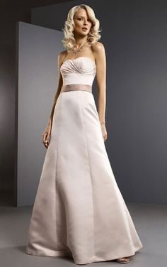 Allure Ankle-length Sweetheart Sleeveless Satin Princess Wedding Party Dresses