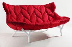 Natural Leaf Sofa by Patricia Urquiola: Great for nesting or cuddling. #Chiar #Sofa #Patricia_Urquiola