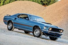 1969 Mustang Mach 1 - Gorgeous in blue! #Classic #American #MuscleCar