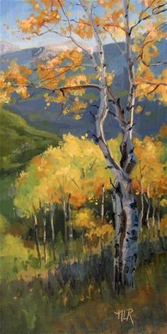 "Daily Paintworks - ""Autumn"" - Original Fine Art for Sale - © Nancy Romanovsky"