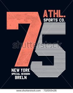 College New York Brooklyn Typography Tshirt Stock Vector (Royalty Free) 732055426 Shirt Logo Design, Tee Design, Print Design, Shirt Designs, Typo Logo, Typography, Lettering, Jeans Vintage, Shirt Label